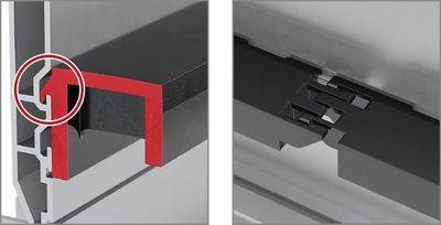 Alu Guide System Roll support made of plastic