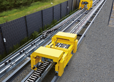 Roller supported chain Outdoor