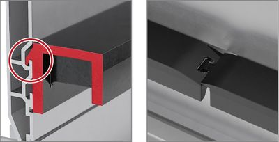 Alu Guide System Glide support made of plastic